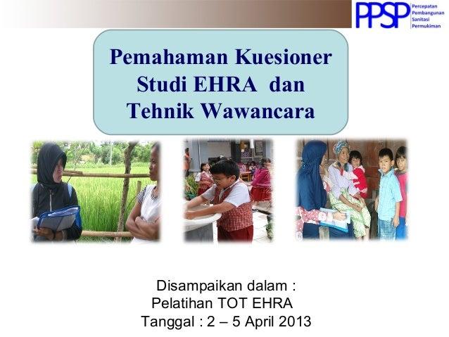 Pemahaman Kuesioner EHRA (Environmental Health Risk ...