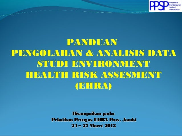 Panduan Memasukkan (Entry) Data EHRA (Environmental Health ...