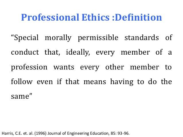 WORK ETHICS DEFINITION PDF