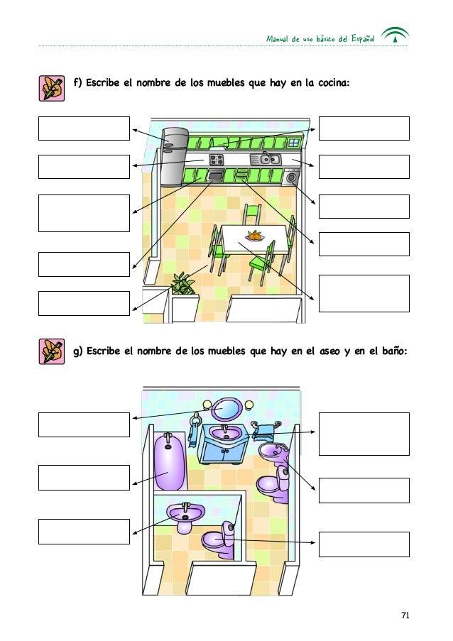 Mi casa unidad 3 for Manual para muebles de cocina