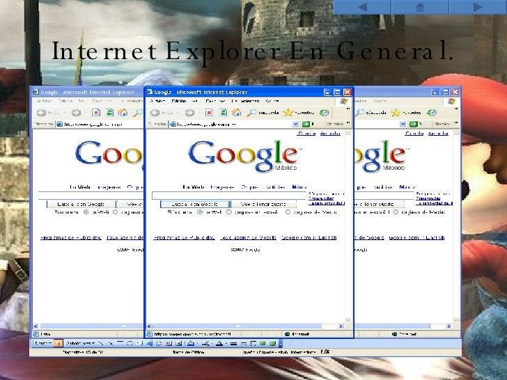 Internet Explorer En General.