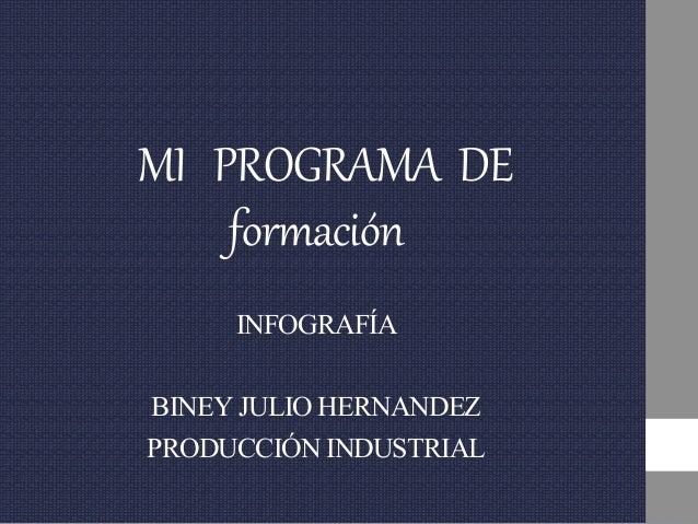 MI PROGRAMA DE formación INFOGRAFÍA BINEYJULIOHERNANDEZ PRODUCCIÓNINDUSTRIAL