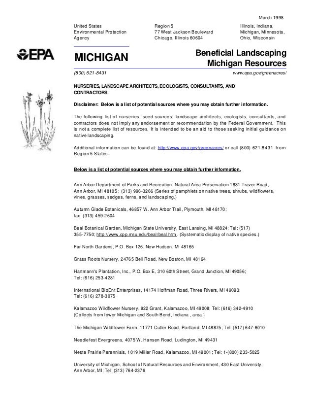 March 1998United States                          Region 5                                 Illinois, Indiana,Environmental ...