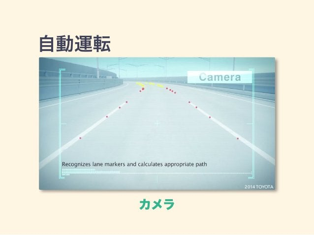 自動運転 カメラ 2014 TOYOTA