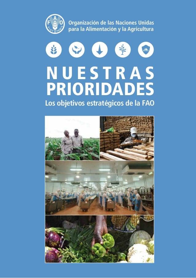 N U E S T R A S PRIORIDADES Los objetivos estratégicos de la FAO
