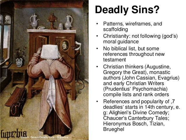 canterbury tales seven deadly sins 7 deadly sins in the pardoner's tale  there are seven deadly sins that,  the pardoner the canterbury tales is the story of a group of different people,.