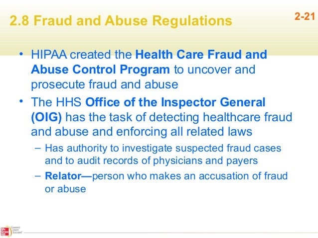 health care fraud and abuse In the largest healthcare fraud takedown to date, oig and doj reported  how  providers can detect, prevent healthcare fraud and abuse.