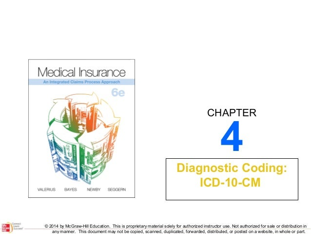 CHAPTER  4  Diagnostic Coding: ICD-10-CM  © 2014 by McGraw-Hill Education. This is proprietary material solely for authori...