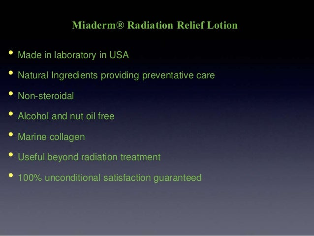 Miaderm 174 Radiation Relief Lotion Amp Miaderm L