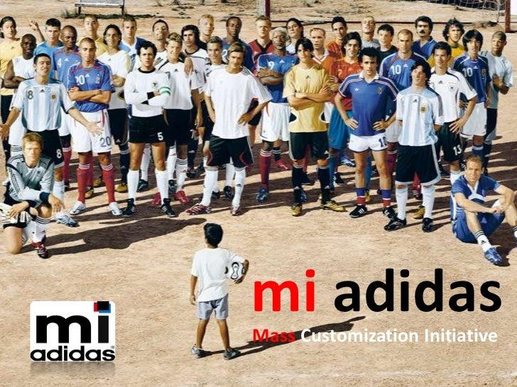 mi adidasMass Customization Initiative