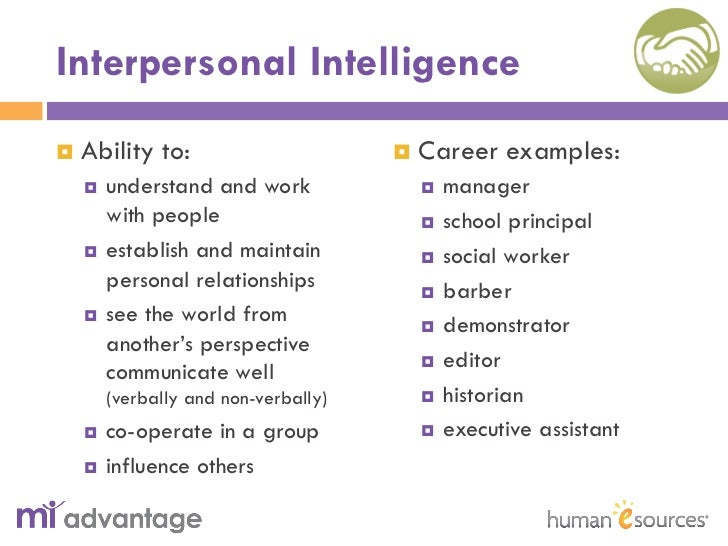 interpersonal vs intrapersonal