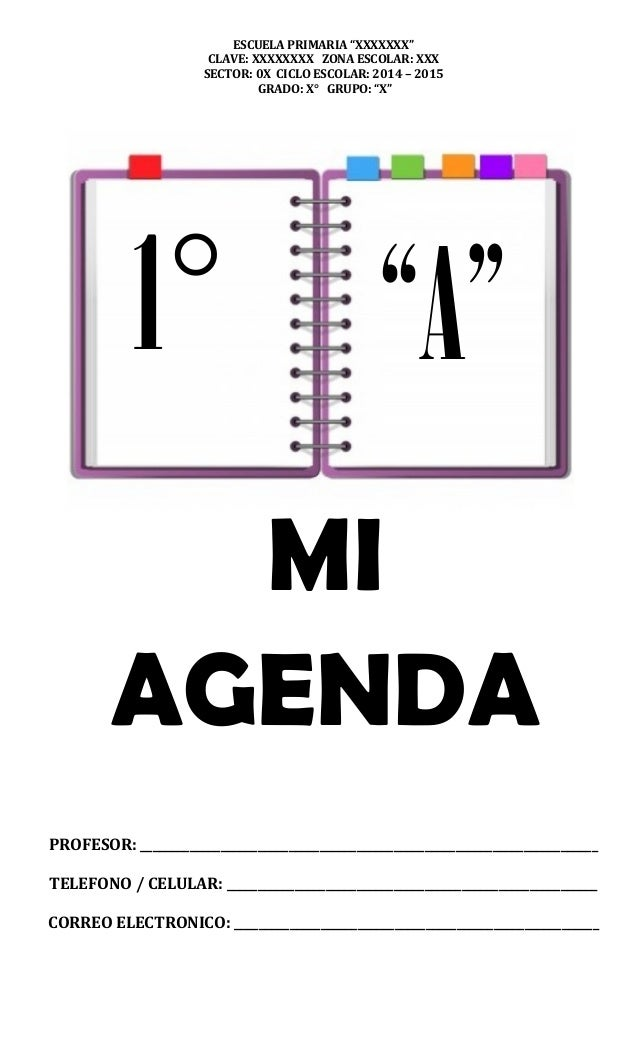 Mi agenda escolar 2014 2015 primaria 1 for A que zona escolar pertenece mi escuela