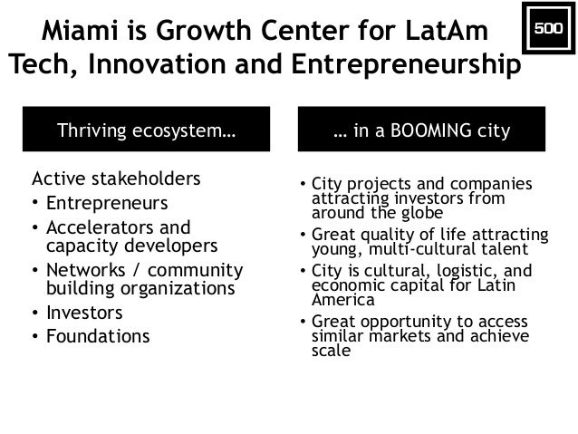 Miami is Growth Center for