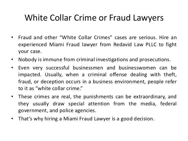 """White Collar Crime or Fraud Lawyers • Fraud and other """"White Collar Crimes"""" cases are serious. Hire an experienced Miami F..."""