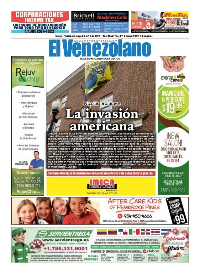 24e8671c1 Semanario El Venezolano Nicolás Promueve la invasión americana