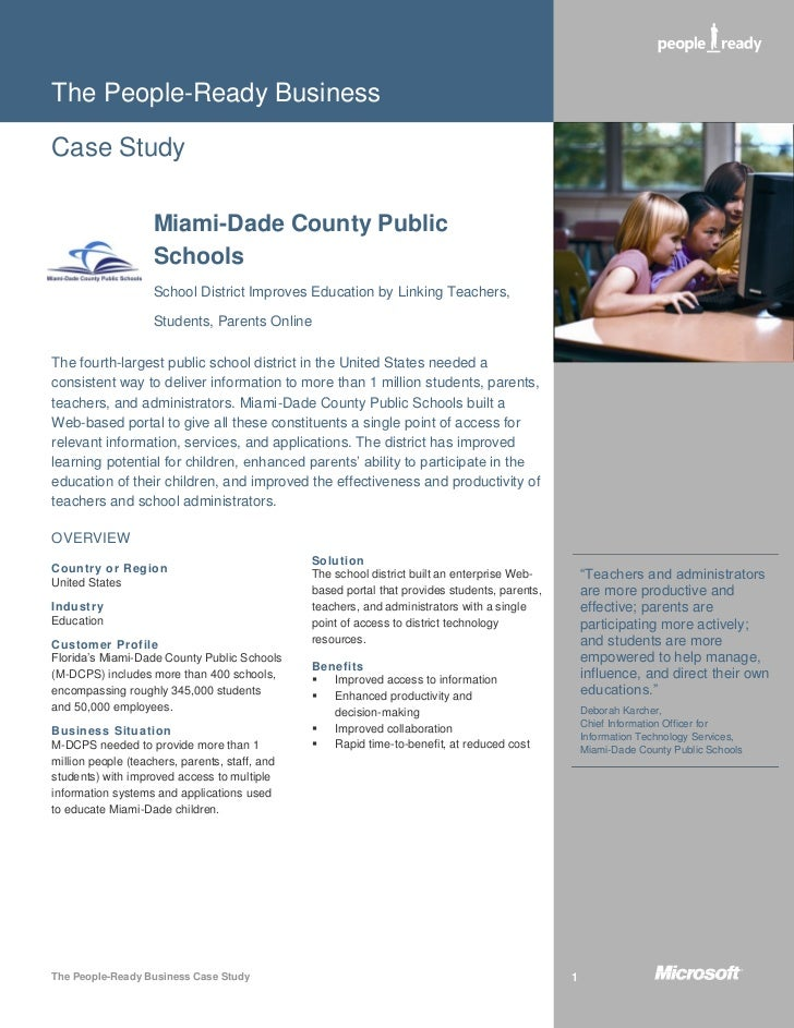 The People-Ready BusinessCase Study                    Miami-Dade County Public                    Schools                ...