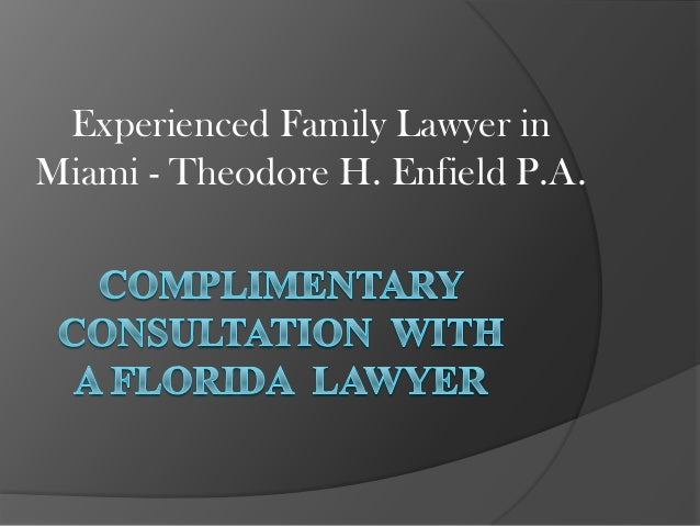 Experienced Family Lawyer in Miami - Theodore H. Enfield P.A.