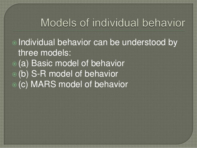 Stimulus environment Physiological process Cognitive process Responses pattern of behavior