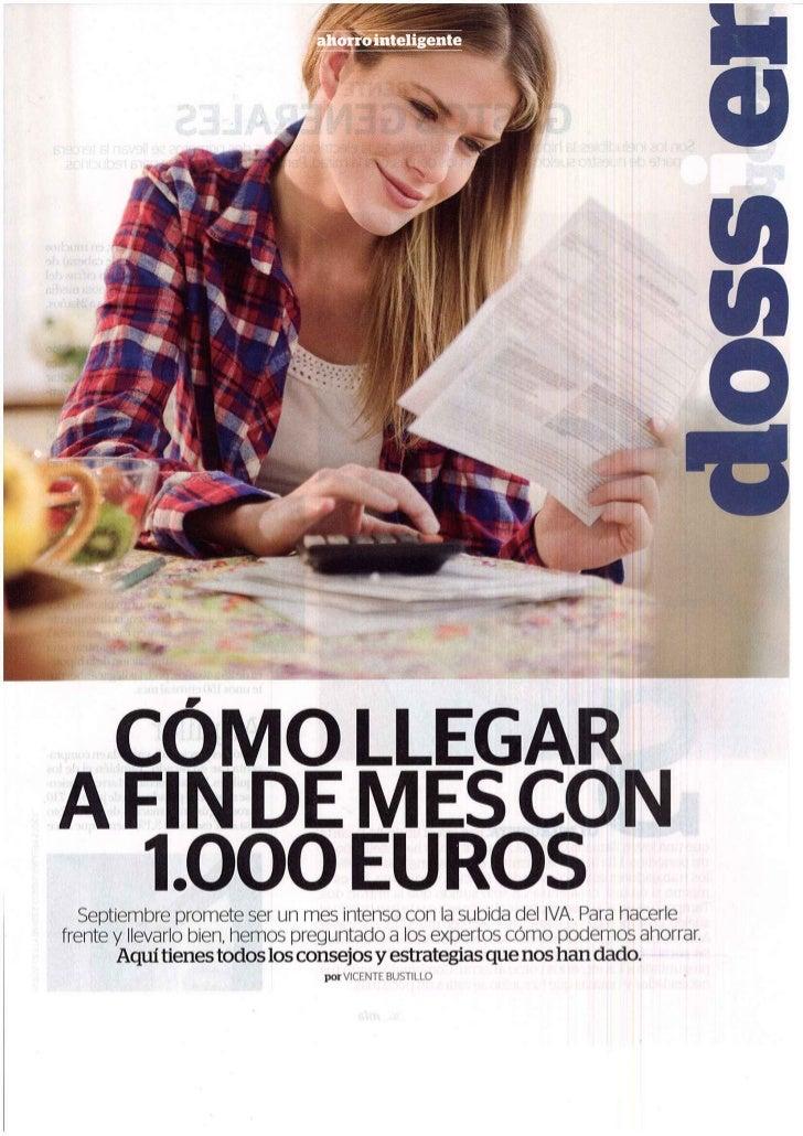 c mo llegar a fin de mes con 1000 euros