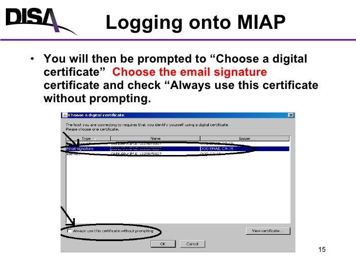 Miap Account Creation And Logon Procedures V1