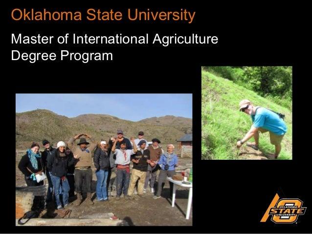 Oklahoma State University Master of International Agriculture Degree Program