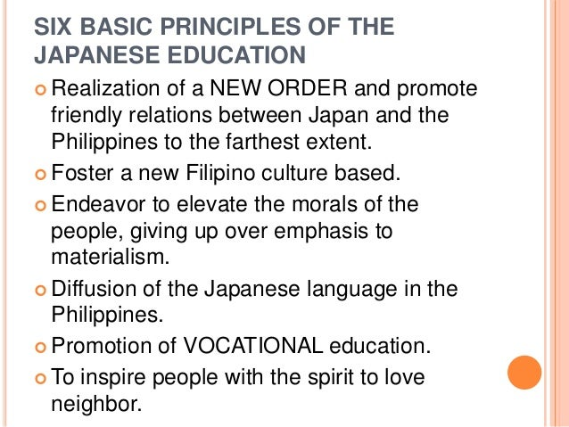 Philippine Educational System During the Japanese Occupation