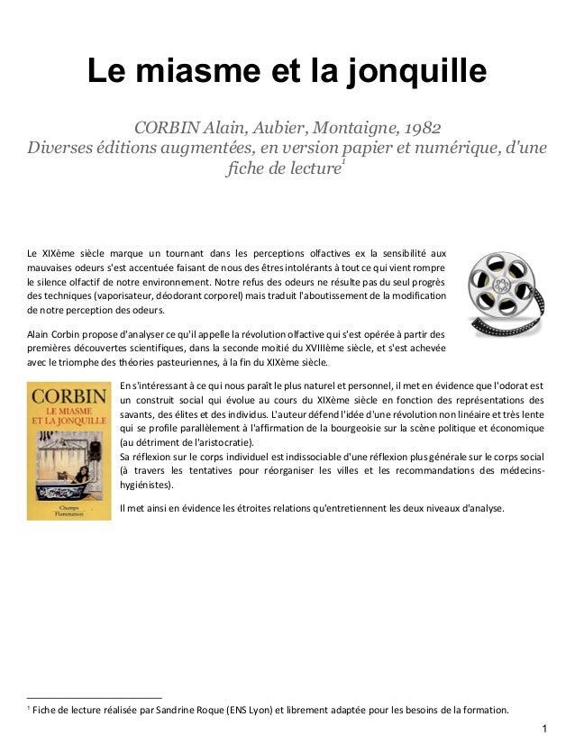 Lemiasmeetlajonquille CORBIN Alain, Aubier, Montaigne, 1982 Diverses éditions augmentées, en version papier et numéri...