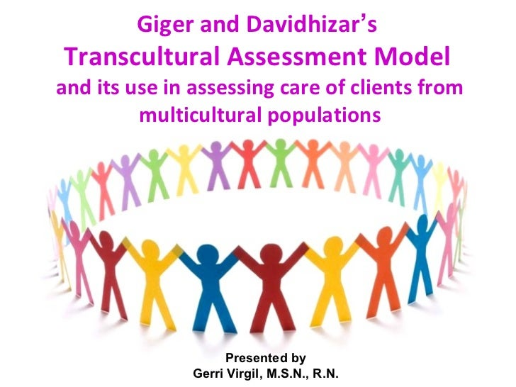 Giger and Davidhizar'sTranscultural Assessment Modeland its use in assessing care of clients from         multicultural po...
