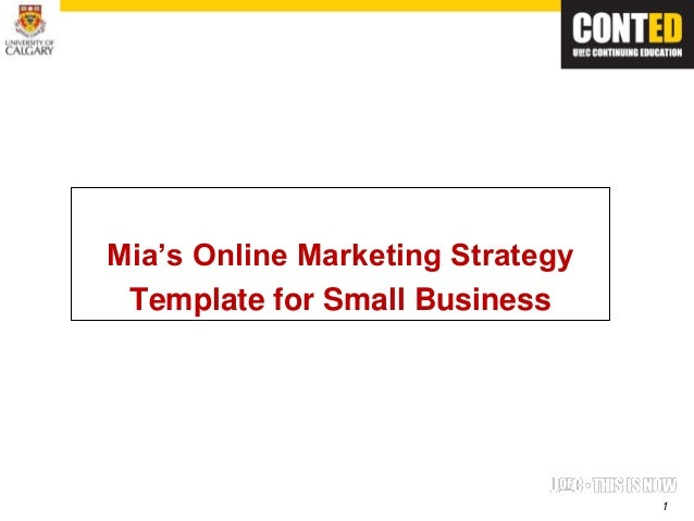 Mias template mias online marketing strategy template for small business wajeb Choice Image