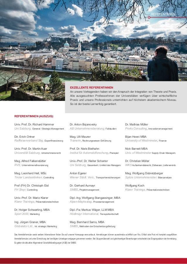 MASTER OF INTERNATIONAL BUSINESS MIB EXECUTIVE MASTER PROGRAMM FÜR INTERNATIONALE GESCHÄFTS- UND HANDELSTÄTIGKEIT Studiend...
