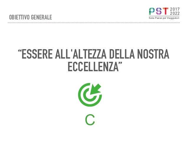 """""""ESSERE ALL'ALTEZZA DELLA NOSTRA ECCELLENZA"""" C 2017 2022 Italia Paese per ViaggiatoriOBIETTIVO GENERALE"""