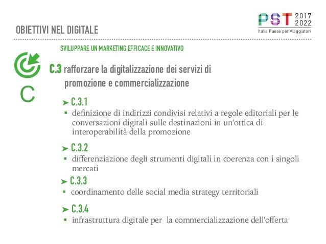 C.3 rafforzare la digitalizzazione dei servizi di promozione e commercializzazione ➤C.3.2 § differenziazione degli strume...
