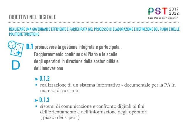 D.1 promuovere la gestione integrata e partecipata, l'aggiornamento continuo del Piano e le scelte degli operatori in dire...