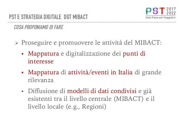 Ø Proseguire e promuovere le attività del MIBACT: § Mappatura e digitalizzazione dei punti di interesse § Mappatura di ...