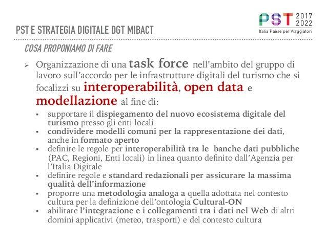 Ø Organizzazione di una task force nell'ambito del gruppo di lavoro sull'accordo per le infrastrutture digitali del turis...