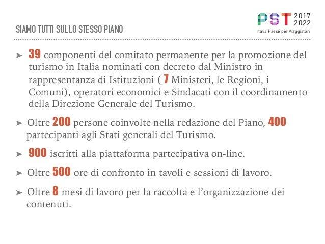 SIAMO TUTTI SULLO STESSO PIANO ➤ 39 componenti del comitato permanente per la promozione del turismo in Italia nominati c...