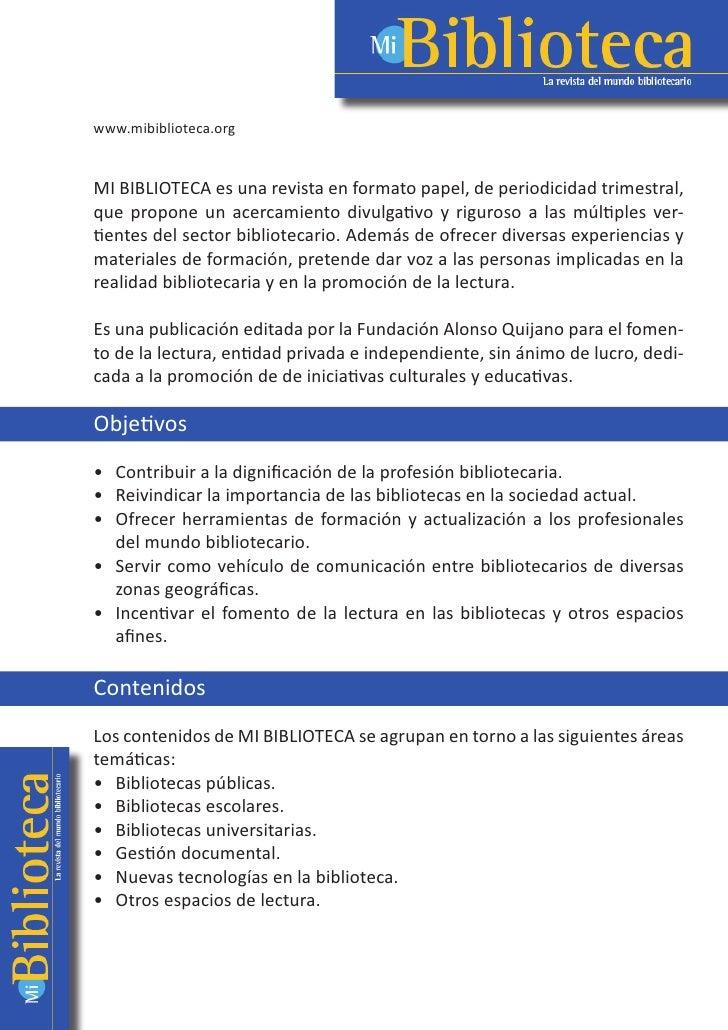 www.mibiblioteca.org                               MIBIBLIOTECAesunarevistaenformatopapel,deperiodicidadt...