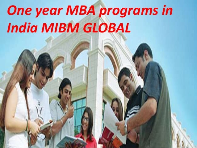 Mibm Global One Year Mba Programs In India