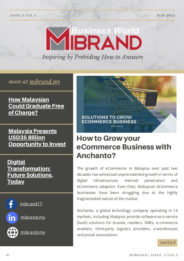 more at mibrand.my How Malaysian Could Graduate Free of Charge? Malaysia Presents USD35 Billion Opportunity to Invest Digi...