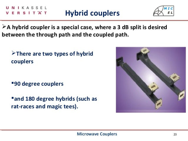 Application of waveguide directional coupler