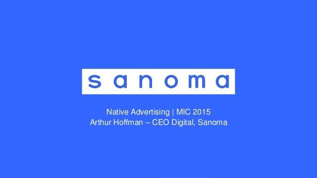 Mic2015 sanoma arthur hoffman for Sanoma digital