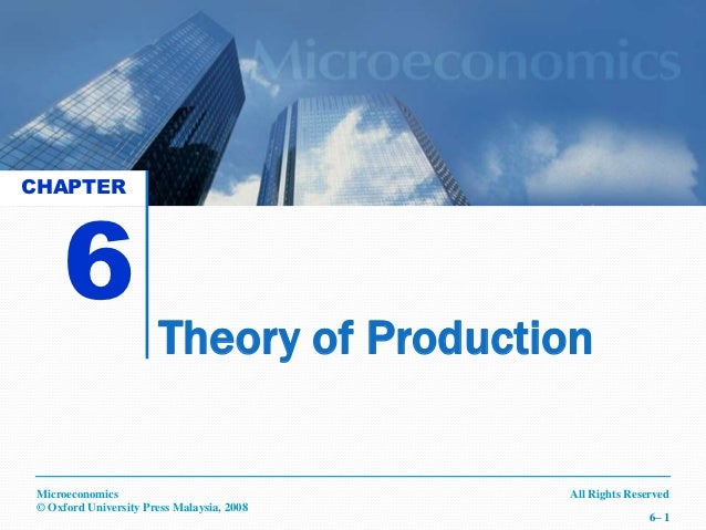 CHAPTER     6                        Theory of Production Microeconomics                             All Rights Reserved ©...