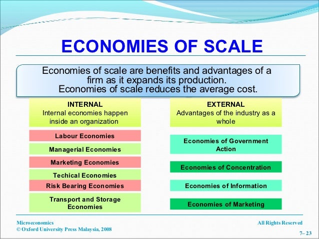 Difference Between Economies of Scale and Diseconomies of Scale