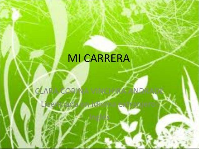 MI CARRERA