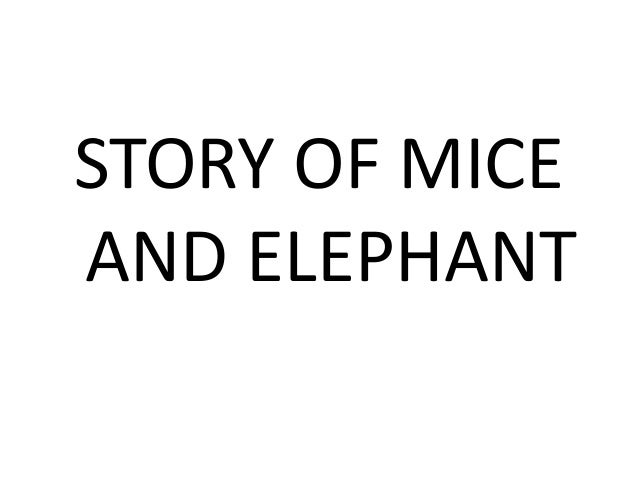 Mice & elephant- innovative lesson plan