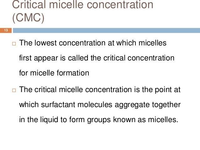 factors affecting critical micelle concentration pdf