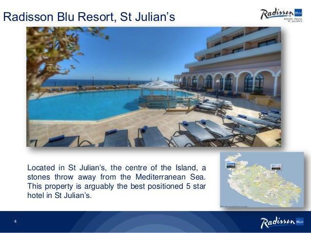 3 Welcome to Radisson Blu Resort, St Julian's; 4.