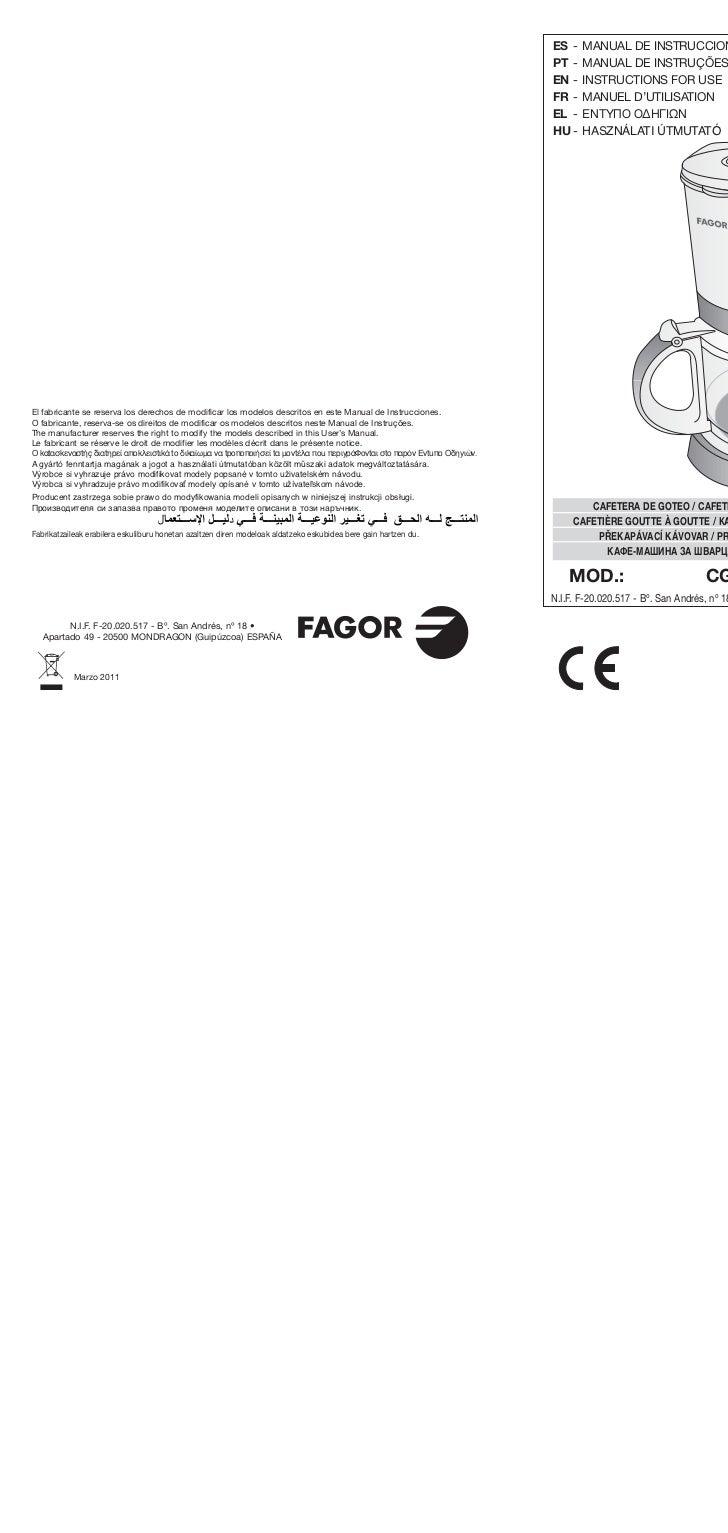 Mi cg 2010 web servicio tecnico fagor for Servicio tecnico fagor granada