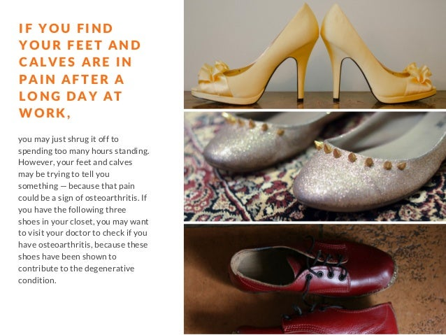 These 3 Shoes May Be Contributing to Your Osteoarthritis Slide 2