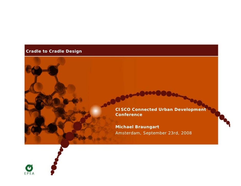 Cradle to Cradle Design                               CISCO Connected Urban Development                           Conferen...